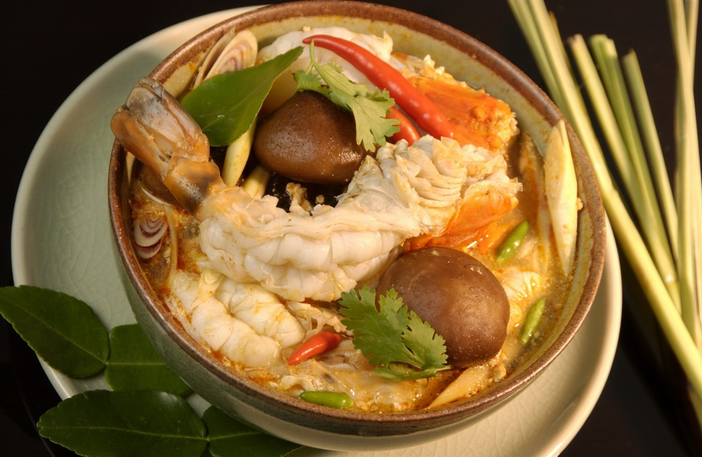 2 Tom Yam Kun Shrimp Soup